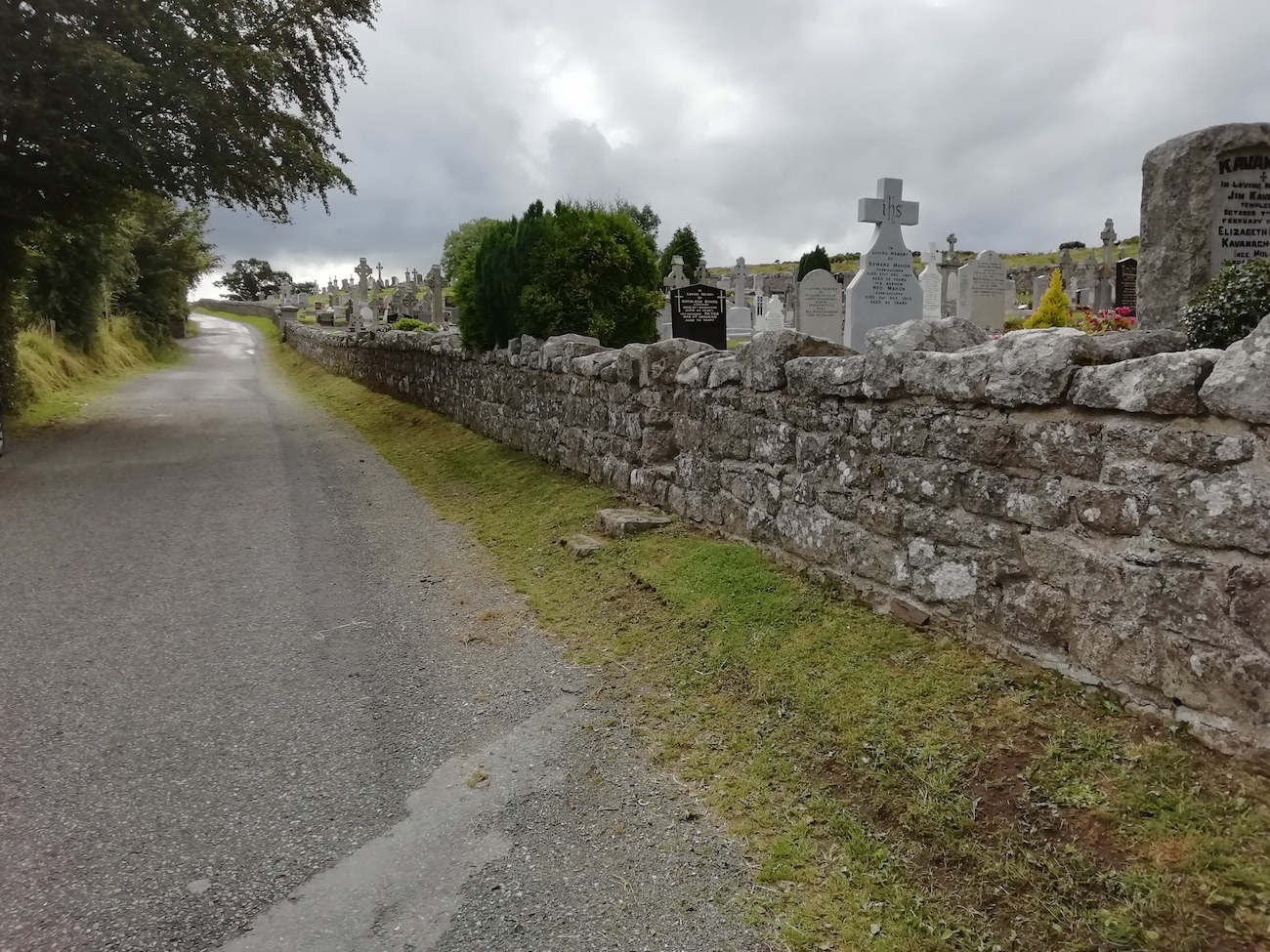 Front wall of Baltyboys Cemetery County Wicklow